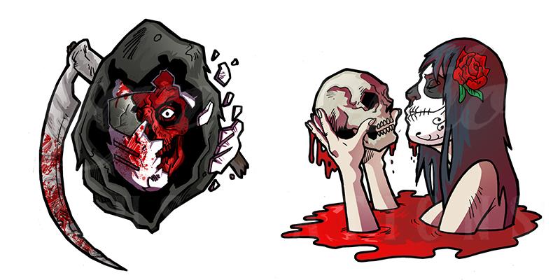 Sony – Motorstorm – Horror StickersRBIllustrationsFreelance Digitial